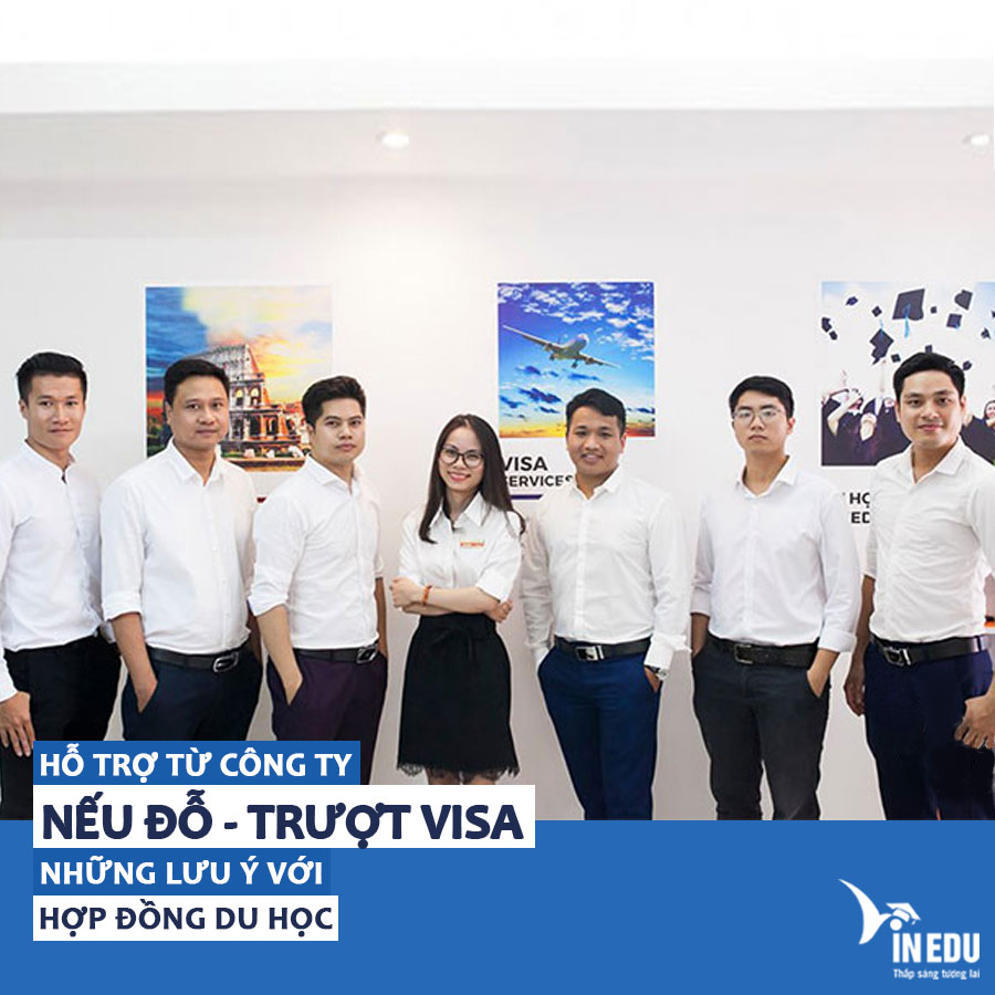 Hỗ trợ từ trung tâm tư vấn du học uy tín nếu Đỗ- Trượt Visa