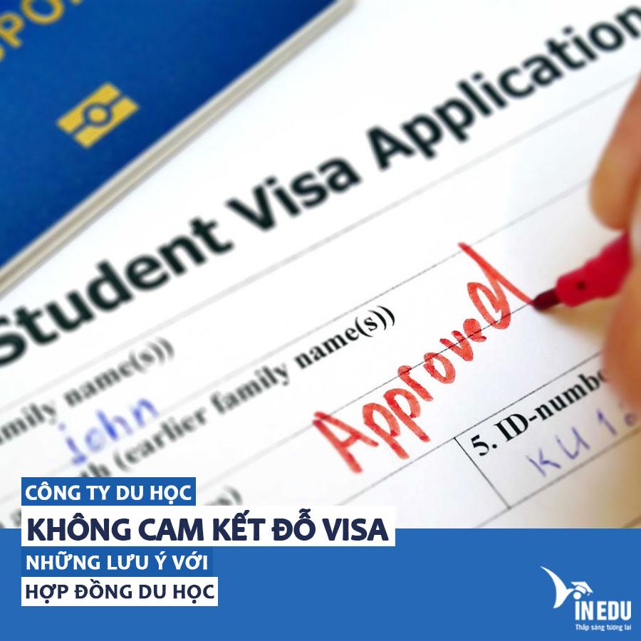 Không cam kết đỗ visa